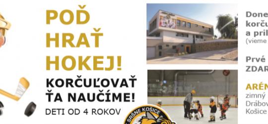 Nový nábor detí do hokejovej prípravky HK Sršne Košice!