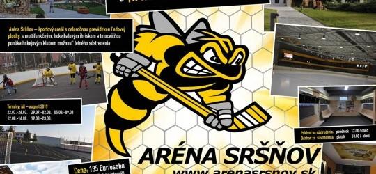 Ponuka letného sústredenia pre hokejové kluby v Aréne Sršňov v Košiciach!